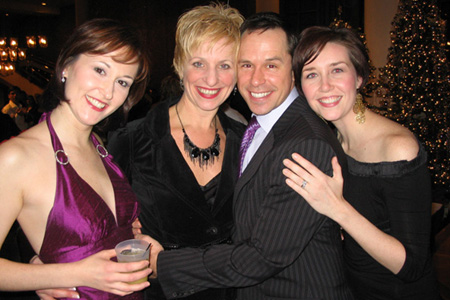Cara Kjellman, Kelli Barclay, James Patterson and Jennifer Mathie at White Christmas Opens in St. Paul