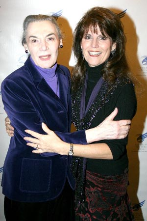 Marian Seldes and Lucie Arnaz at American Theatre Wing Grants Luncheon