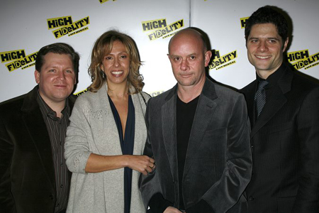 The creative team: David Lindsay-Abaire, Amanda Green, Nick Hornby and Tom Kitt at High Fidelity Opening Night Arrivals