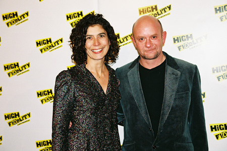 Amanda Posey and Nick Hornby (High Fidelity is based on his novel) at High Fidelity Opening Night Party