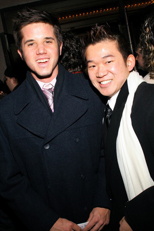 Kyle Fox and Rick Hayashi at Spring Awakening Arrivals