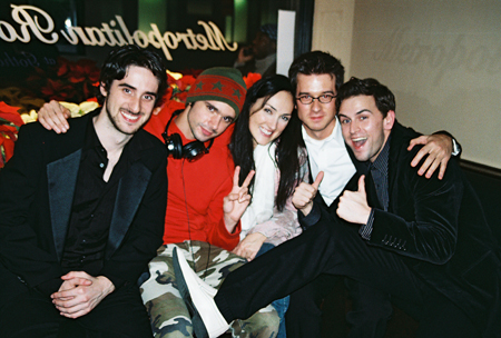 Bryan Perri, Robb Sapp, Tiffany Haas, Christian Hebel and Daniel Reichard at Daniel Reichard Metropolitan Room Concert