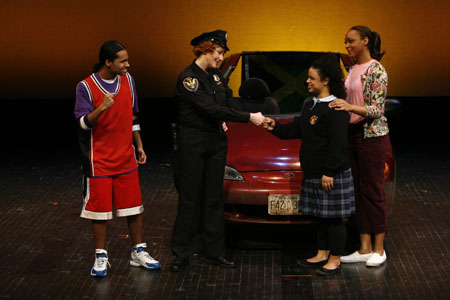 Ronny Mercedes, Annette Michelle Sanders as Officer Donnelly, Emily Agy and Robyn Payne at A Shelter in Our Car