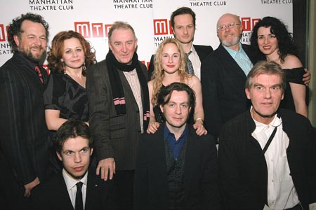 Back: David Costabile, Geraldine Hughes, Dermot Crowley, Morgan Hallett, Chandler Williams, Niall Buggy, and Susan Lynch; Front: Michael FitzGerald, Alan Cox, Graeme Malcolm at Translations Opening Night