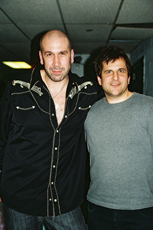 Jeremy Schonfeld and Gary Seligson at Backstage at Rockers on Broadway