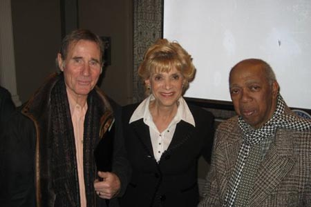 Jim Dale, Margot Astrachan (Producer of Event) and Geoffrey Holder at St. George's Society National Arts Club Event