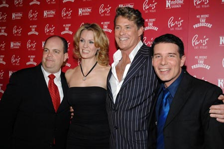 Brad Oscar, Leigh Zimmerman, David Hasselhoff and Rich Affannato at The Producers Opens in Las Vegas