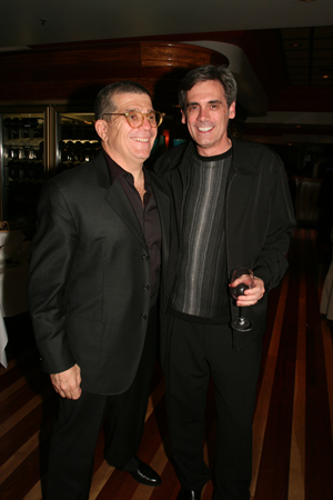David Mamet and Randall Arney at Speed-the-Plow Opening Night in L.A.