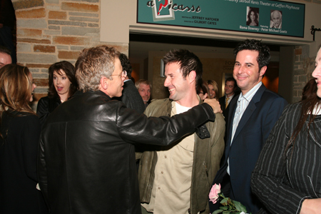 Greg Germann, David Arquette and Jonathan Silverman at Speed-the-Plow Opening Night in L.A.