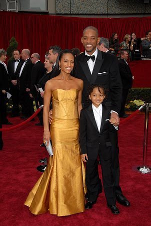 Jada Pinkett Smith, Will Smith and son Jaden at 79th Annual Academy Awards