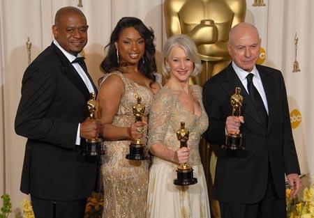 Forest Whitaker, Jennifer Hudson, Helen Mirren and Alan Arkin at 79th Annual Academy Awards