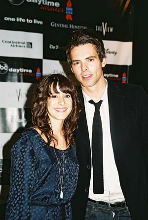 Kimberly McCullough (GH's Dr. Robin Scorpio) and Jason Thompson (GH's Patrick Drake) at Daytime Benefit for BC/EFA