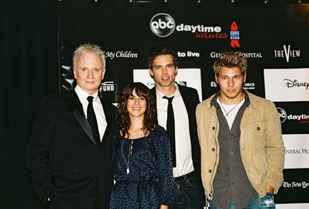 Anthony Geary, Kimberly McCullough, Jason Thompson and Scott Cliffton (GH's Dillon Quartetmain) at Daytime Benefit for BC/EFA