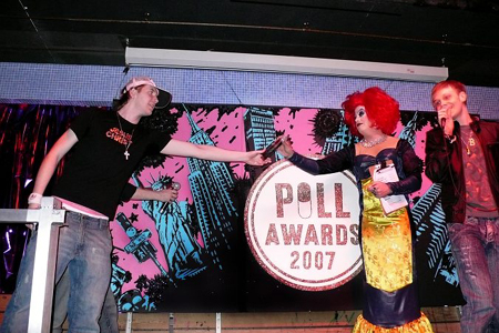Francis Legge, Peaches Christ and Adam Joseph at 2007 Pill Awards