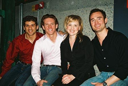 Tony Yazbeck, Ken Alan, Anika Larsen and Brad Anderson at Broadway Backwards 2