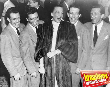 Kay Thompson and The Williams Brothers (Bob, Dick, Andy and Don) - taken in the '40s at Lucky Fans Get to See LIZA Try Out New Material on the Road