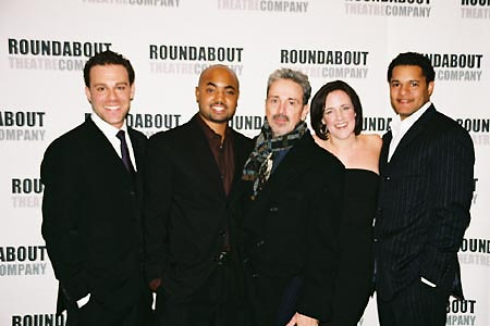Matthew Rauch, Francois Battiste, Craig Lucas, Karen Walsh, Brandon Dirden at Prelude to a Kiss Opening Night Party