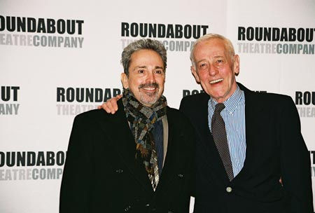 Craig Lucas and John Mahoney at Prelude to a Kiss Opening Night Party