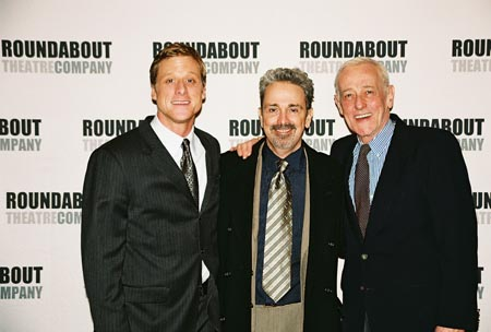 Alan Tudyk, Craig Lucas and John Mahoney at Prelude to a Kiss Opening Night Party