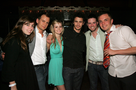 Lindsay, Chris Isaacson, Ahna O'Reilly, James Franco, Trapper Felides and Shane Scheel at  Springtime for UPRIGHT