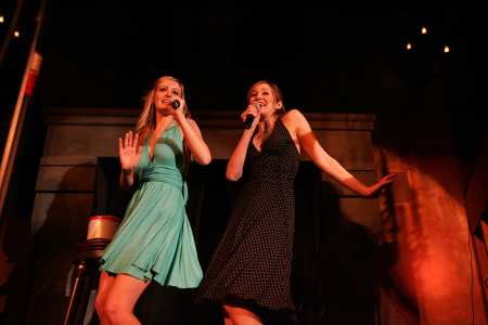 Ahna O'Reilly and Autumn Reeser at  Springtime for UPRIGHT