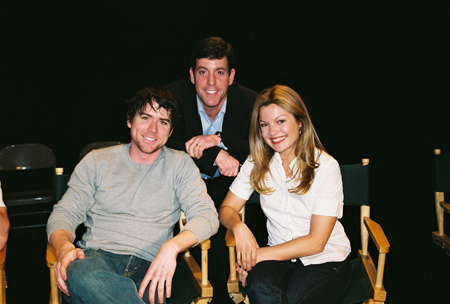 Christian Campbell, Steven Sendor and Clare Kramer at Loose Ends Reading