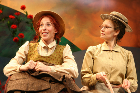 Piper Goodeve and Bethe B. Austin at Anne of Green Gables in Previews