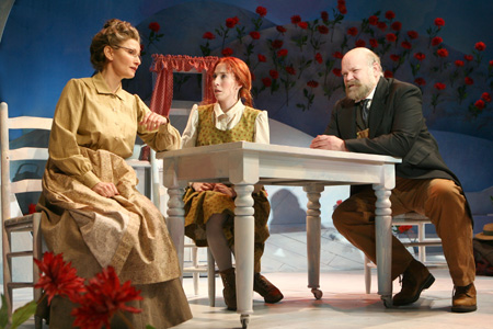 Bethe B. Austin, Piper Goodeve and Erick Devine at Anne of Green Gables in Previews