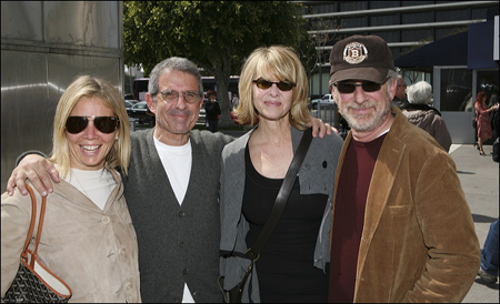 Kelly and Ron Meyer, Kate Capshaw and Steven Spielberg at  Distracted's World Premiere in L.A.