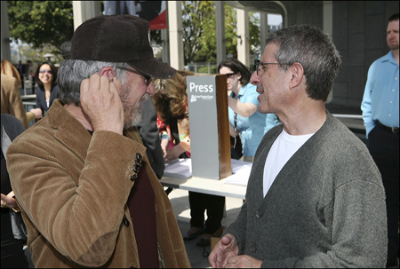 Steven Spielberg and Ron Meyer at  Distracted's World Premiere in L.A.