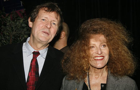 David Hare and Nicole Farhi at Opening Night at Year of Magical Thinking