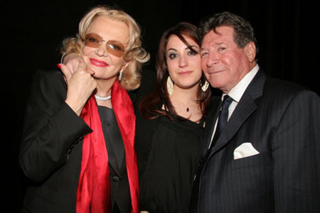 Gena Rowlands with grandaughter, Gina Cassaevetes and Robert Forrest at AADA Honors Bancroft, Durning and Rowlands
