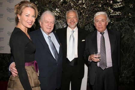Jensen Gores, Charles Durning, Same Gores and guest  at AADA Honors Bancroft, Durning and Rowlands