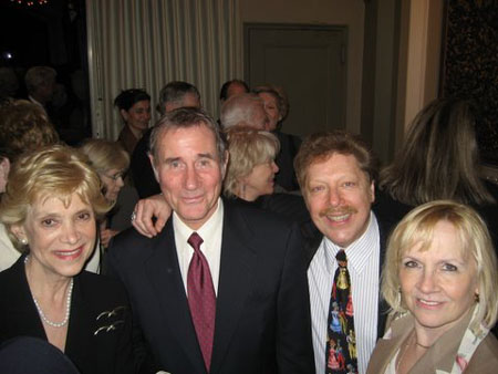Margot W. Astrachan, Chairman, St. George's Society Arts Initiative; Jim Dale, Broadway star and Host for the evening; Robert R. Blume; Kristine Lewis, Producer (Burleigh Grimes, Enchanted April) at St. George Arts Society Initiative