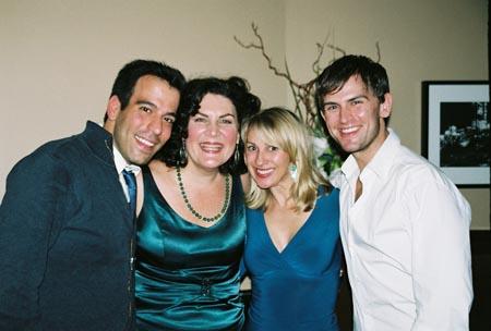 Forbidden Broadway Reunion - Craig Laurie, Kristine Zbornik, Leisa Mather and Daniel Reichard at Kristine Zbornik at the Metropolitan Room