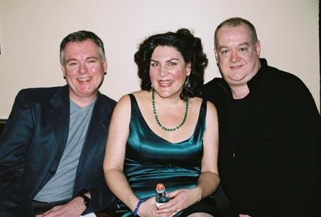 Bobby Peaco (Musical Director), Kristine Zbornik and Michael Barbieri (Lighting) at Kristine Zbornik at the Metropolitan Room