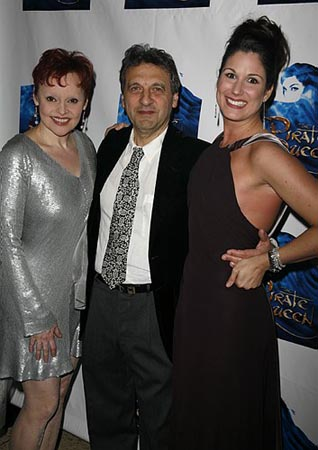 Linda Balgord, Alain Boublil and Stephanie J. Block at The Pirate Queen Opening Night