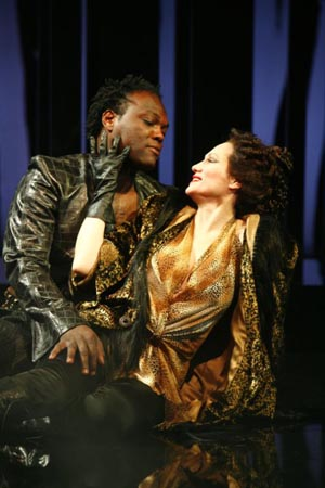 Peter Macon as Aaron and Valerie Leonard as Tamora at Titus Andronicus in D.C.