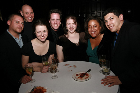 Peter Smith, Arnie Mazer, Julia Haubner Smith, Carl SmithHaan, Kimberly Stern, Cat McKenzie, and Matt Alago at Vegas in Gotham Benefit