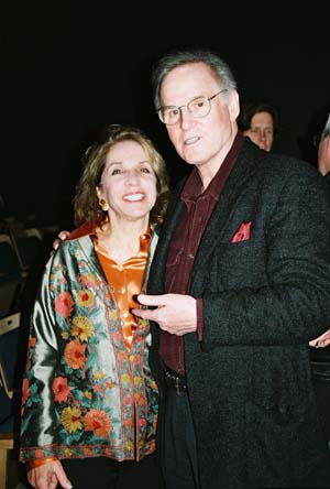 Same Time, Next Year Producer Dasha Epstein and Charles Grodin, who won the 1975 Drama Desk Award for Best in a Play, Same Time, Next Year at An Evening with Charles Grodin