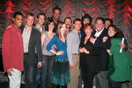 Robert Fowler, Eric Gunhus, Will Taylor, Erin Lawrence, Bill Nolte, Heather Jewels, Joseph John, Justin Greer, Shauna Hoskins, Kathy Fitzgerald, John Treacy Egan, Stacey Todd Holt and Liz McKendry at BC/EFA's 'The Producers' Cabaret