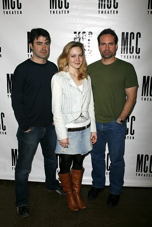 Ron Livingston, Louisa Krause and Jason Patric at 'In a Dark Dark House' First Rehearsal
