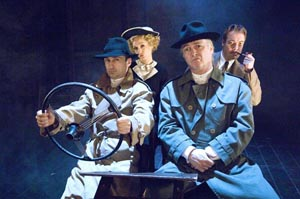 Simon Gregor, Rachel Pickup, Robert Portal and Jimmy Chisholm in The 39 Steps by Shaun Webb at The 39 Steps to Play in Boston Before Heading to Bway