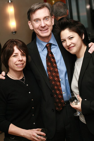 Amy Levin, Martin Casella (Playwright/Director) and Judy Bowman (Casting Director) at GAYFEST NYC Launch Party