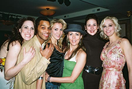 Liz McKendry, Robert Fowler, Angie C. Creighton, Wendy Warning, Sarrah Strimel and Angie Schworer at The Producers Closing Night Party at Tony's