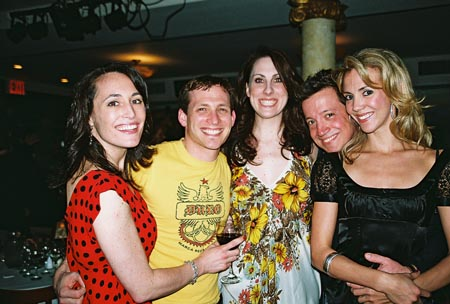 Courtney Young, Justin Greer, Liz McKendry, Stacey Todd Holt and Angie C. Creighton at The Producers Closing Night Party at Tony's