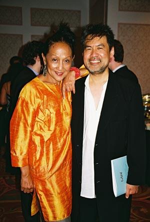 Ching Valdes Aran and David Henry Hwang at Ma-Yi Benefit