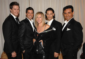 Photo Credit: Barbra Streisand & Il Divo by Kevin Mazur / WireImage at Barbra Streisand to Launch European Tour This Summer