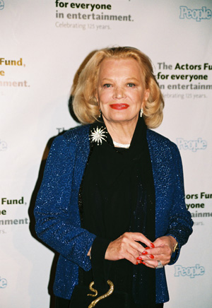 Gena Rowlands at Actors' Fund 125th Anniversary Gala