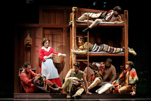 Luke Longacre, Michelle Dawson, Eric Sciotto, Karl Warden, Travis Kelley, Randy Bobish and Christian Del Croix at Seven Brides For Seven Brothers:  Sibling Revelry